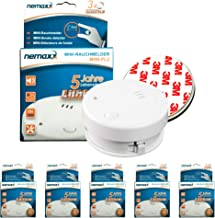 5X NEMAXX Mini-FL2 Rookmelder- hoge kwaliteit & discrete Mini Rookdetector met lithiumbatterij - volgens DIN EN 14604 + 5X...