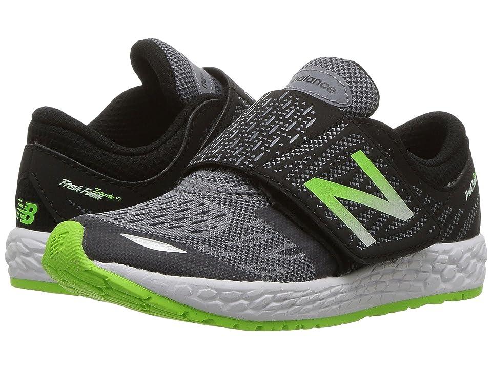 New Balance Kids Fresh Foam Zante v3 (Infant/Toddler) (Black/Green) Boys Shoes