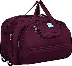 AFN FASHION Polyester Lightweight 60 L Luggage Travel Duffel Bag with 2 Wheels Purple