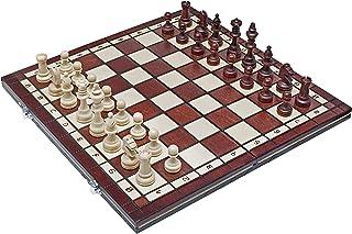 Chess Set - Tournament Staunton Complete No. 4 Burnt Board Game - Handmade