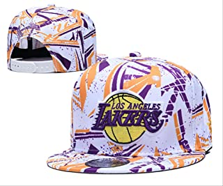 HGFRTY Cotton Baseball Cap, Adjustable, NBA Lakers Embroidery, Outdoor Sports Cap, Suitable for Men and Women