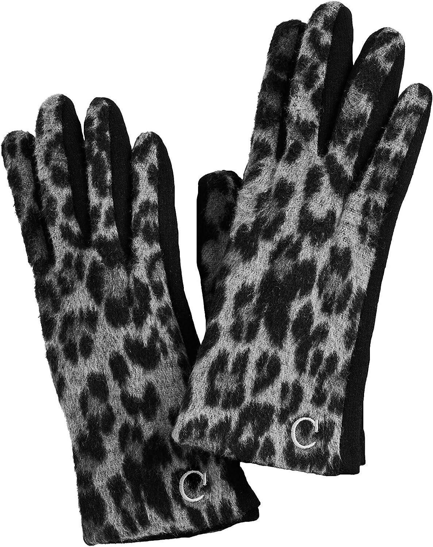 Black Initial Leopard Glove