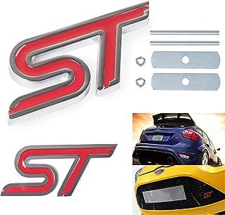HPOW Focus ST Fiesta ST Emblems Grille Decal + ST Sign Vehicle Rear Part Badge Sticker