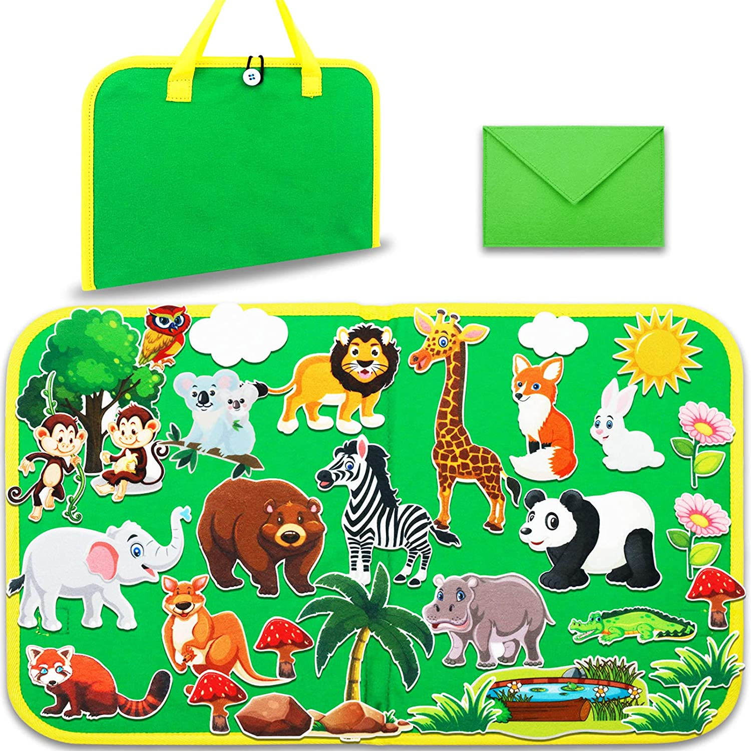 Craftstory Free shipping Animals Travel Felt-Board wholesale Story Toddlers Set for 32