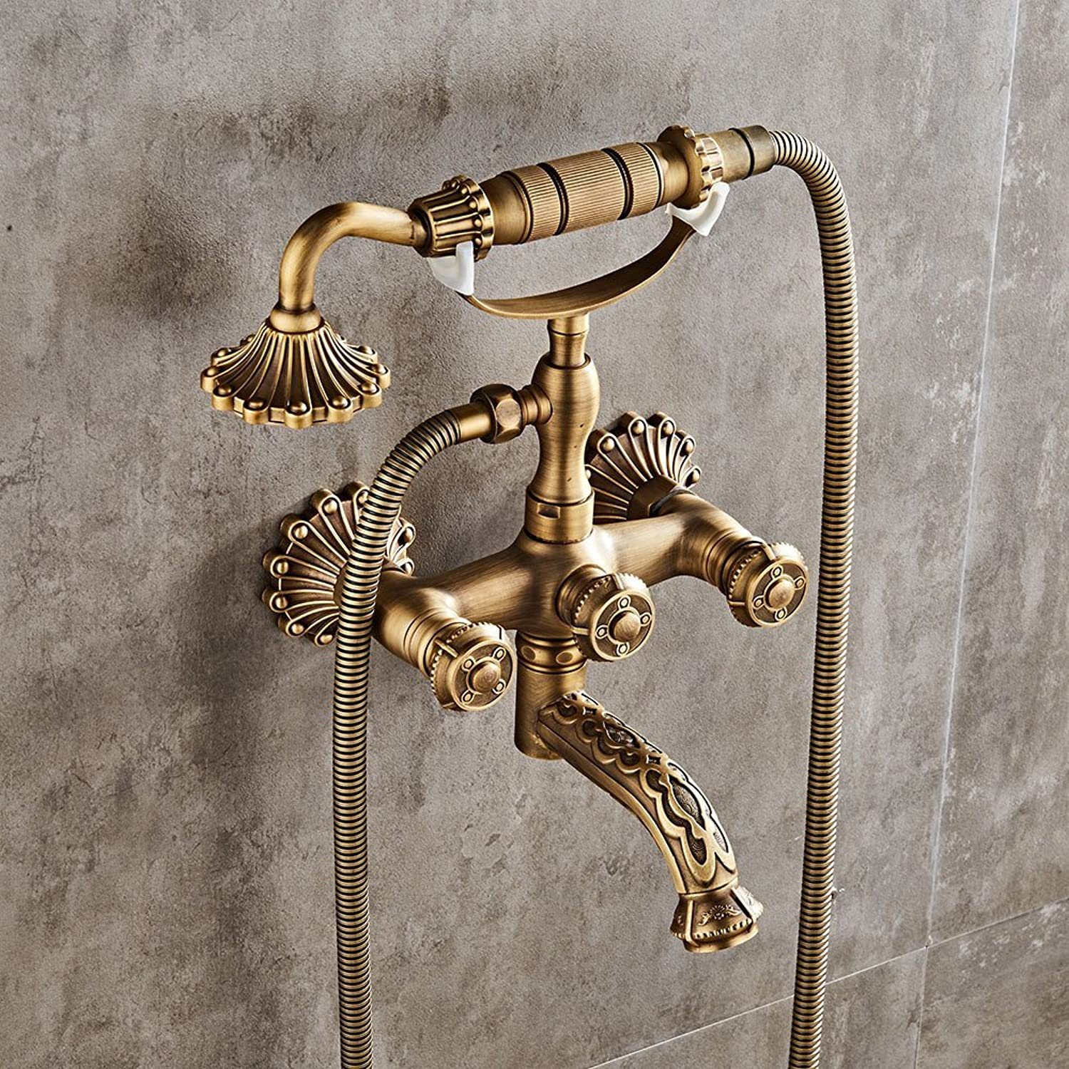 Kitchen Sink Taps Bathroom Sink Taps Antique Simple Shower Bathroom In-Wall Shower Set Bathtub Hot And Cold Faucet