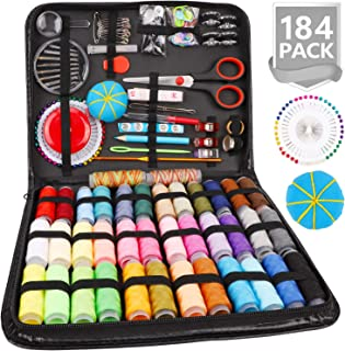 Sewing Kit, 184 Large Premium Sewing Supplies, 38 XL Thread Spools, Suitable for Traveller, Adults, Kids, Beginner, Emerge...