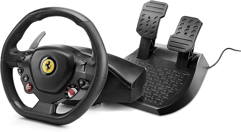 Thrustmaster t80 rw ferrari, volante e pedaliera regolabile, per playstation 4 4160672