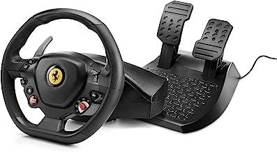 Thrustmaster T80 Rw Ferrari 488 Gtb Gtb Edition Volante e Pedaliera Regolabile, Playstation 4, Nero