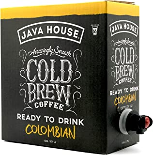 Java House Cold Brew Coffee On Tap, Colombian Black (1 Gallon / 128 Fluid Ounce Box) Single Origin, Not A Concentrate, No ...