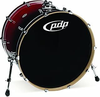 Pacific Drums PDCM1824KKRB 18 x 24 Inches Bass Drum with Chrome Hardware - Red to Black Fade