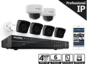 LaView HD 16 Channel (2688 x 1520) Business & Home NVR Security System W/ 4 Indoor/Outdoor 4MP Bullet & 2 Indoor/Outdoor Dome IP POE Surveillance Cameras 100ft Night Vision 2TB HDD
