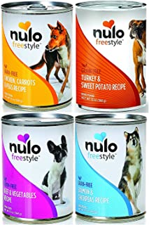 Nulo Free Style Grain-Free Canned Dog Food Mixed 13 oz x 12 cans – Chicken, Turkey, Beef, and Salmon