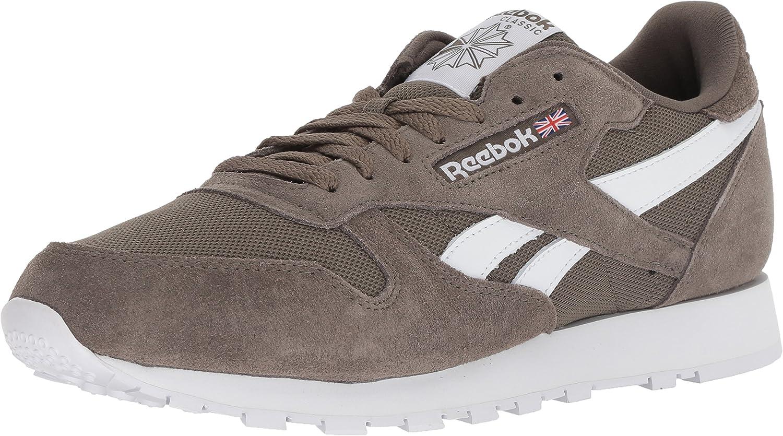 Reebok Men's Classic Leather Walking shoes, Estl-Terrain Grey White, 4 M US