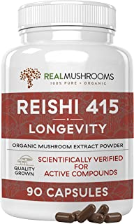 Sponsored Ad - Real Mushrooms Reishi Mushroom Capsules for Longevity (90ct) Vegan, Non-GMO Reishi Extract, Reishi Mushroom...