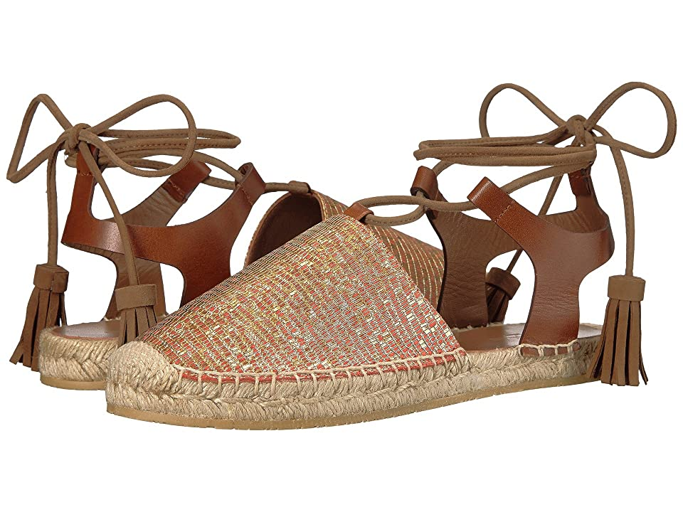 Etro Ankle Wrap Espadrille (Orange) Women