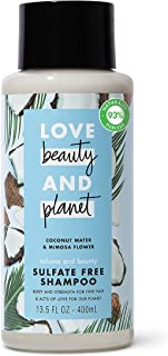 Love Beauty And Planet Volume and Bounty Sulfate-free Thickening Shampoo For Thin and Fine Hair Care Coconut Water & Mimos...