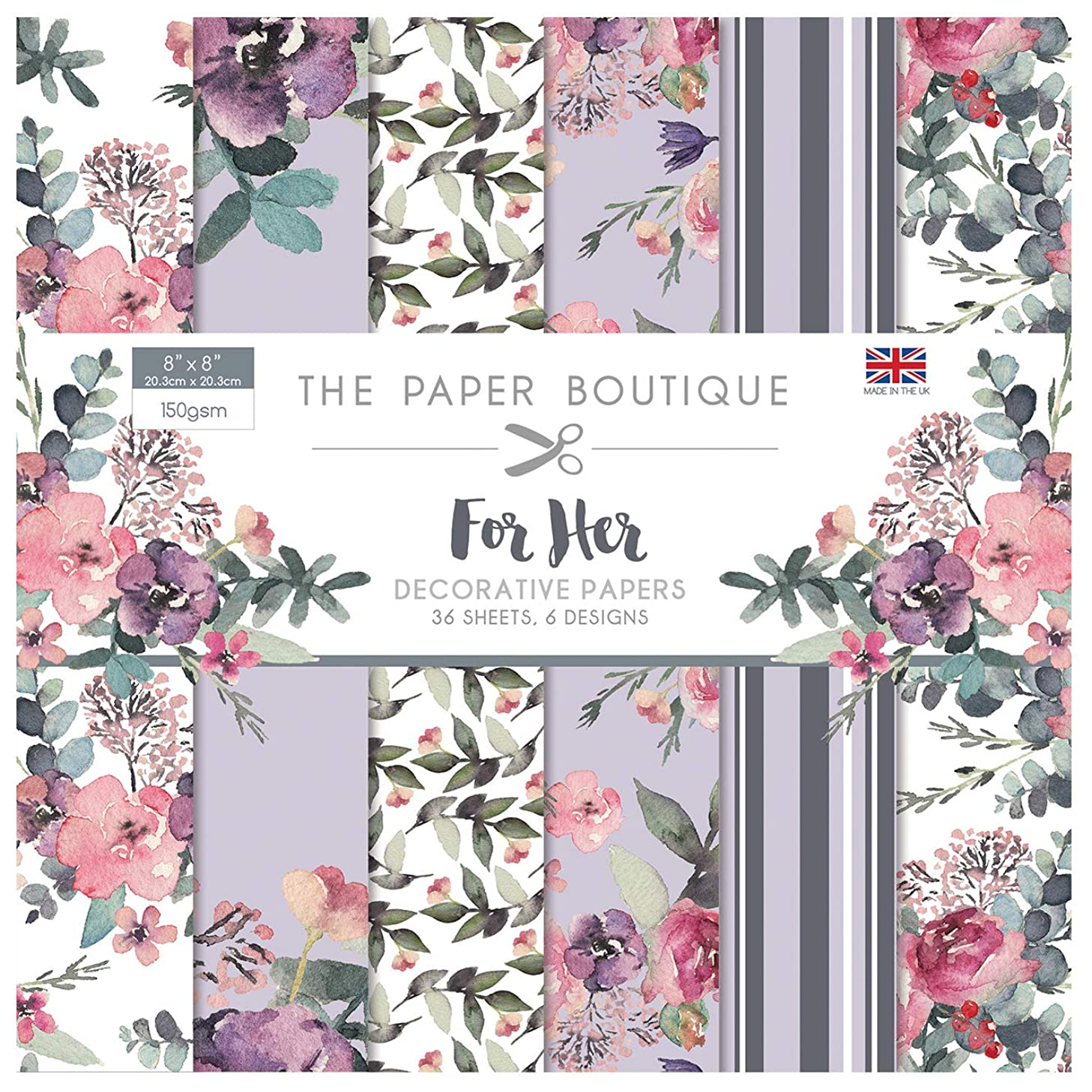 The Paper Boutique for Her 8x8 Paper Pad