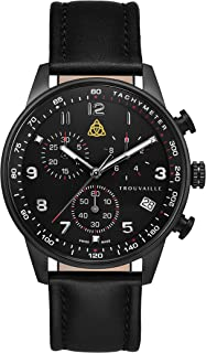 Trouvaille Watches Aviator - Black Chronograph
