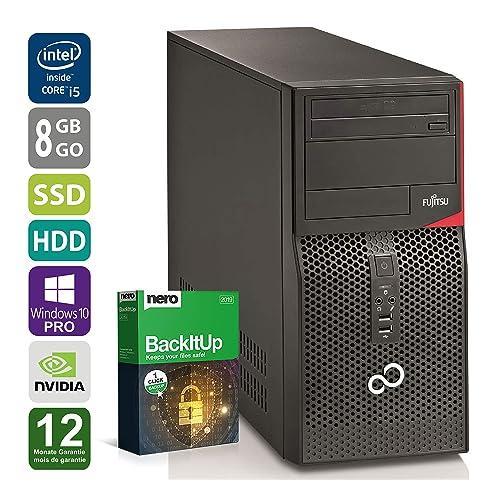 PC Gamer Fujitsu P520 - Nvidia Geforce GTX 1050 - Intel Core i5-4570 @ 3,2 GHz - 8 Go DDR3 RAM - 250 Go SSD - 500 Go HDD - Graveur DVD - Win 10 Pro (Reconditionné Certifié)