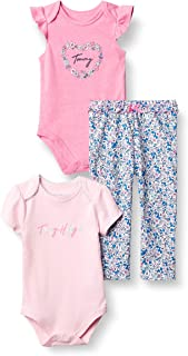 Baby Girls' 3 Pieces Bodysuit Pants Set