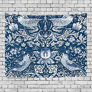 JSTEL William Morris Prints Printed Modern Art Tapestry Home Wall Decoration Wall Hanging Decor Dorm Bedroom Living Room Decorations Polyester Fabric 60 x 40 inches