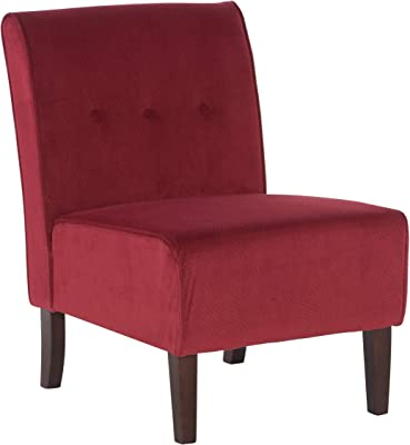 Amazon Com Posh Living Shepherd Velvet Accent Chair Grey