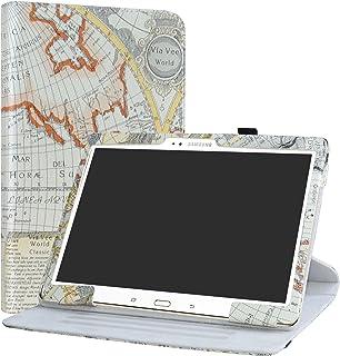 Samsung Galaxy Tab S 10.5 Rotary Funda,LiuShan Giratoria 360 Grados de Rotación Carcasa con Stand Soporte Caso para Samsung Galaxy Tab S 10.5 T800 T805 Android Tablet,Map White