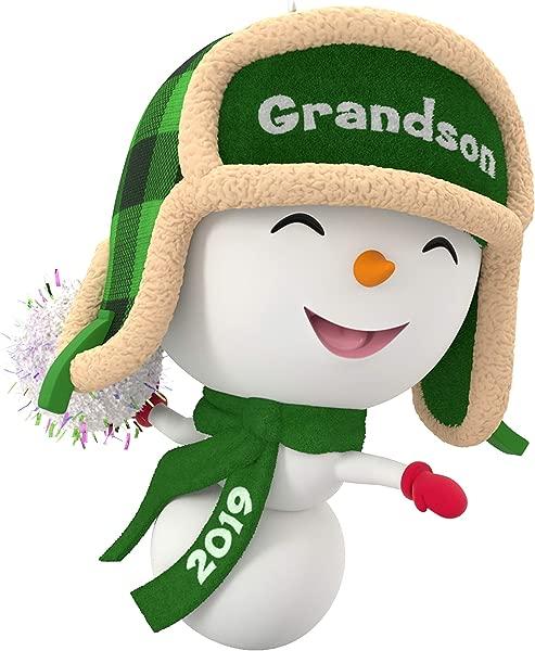 Hallmark Keepsake Christmas Ornament 2019 Year Dated Grandson Snowman