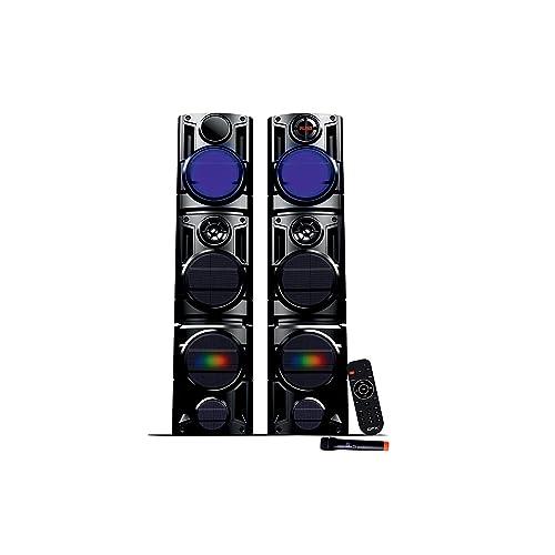 QFX QS Terminator Tower Speaker with Wireless Mic (Black)