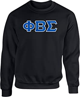 Fashion Greek Phi Beta Sigma Twill Letter Crewneck Sweatshirt