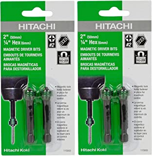 Hitachi #2 Phillips Magnetic Driver Bits #115003 (2 Packs of 2)
