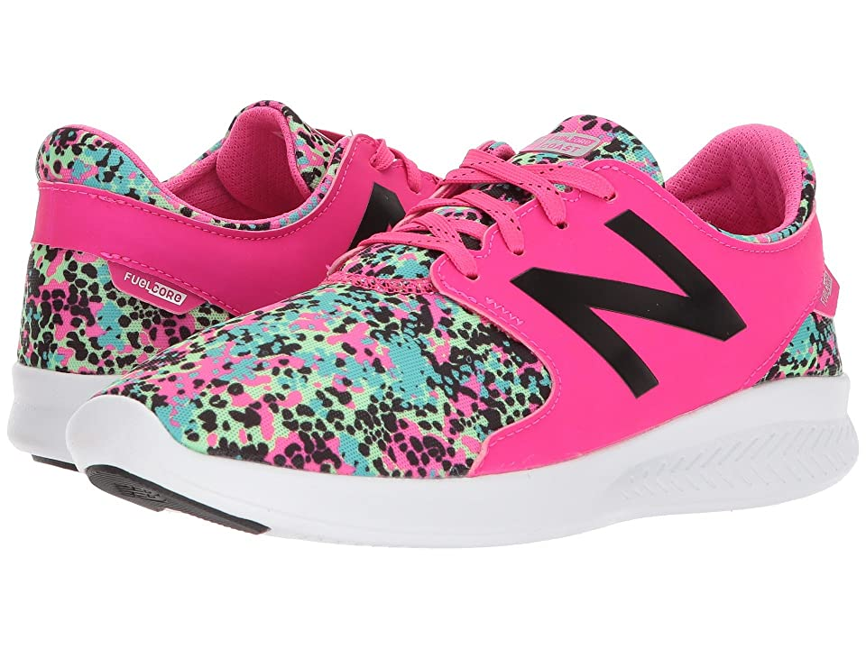 New Balance Kids KJCSTv3Y (Little Kid/Big Kid) (Pink Glo/Green) Girls Shoes