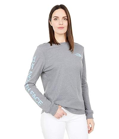 The North Face Simple Logo Long Sleeve Tee (TNF Medium Grey Heather) Women