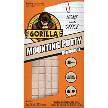 Gorilla Removable Mounting Putty, Off-White