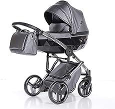 Cochecito de bebé Junama Diamond Fluo Line 3en1 carro trio (gris)