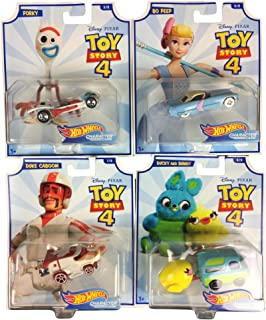 2019 Hot Wheels Toy Story 4 Character Cars Set of 4