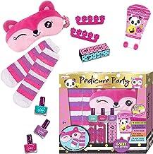 Girls Spa Kit - Set for 5, 6, 7, 8, 9, 10 Year Old Kids - Non Toxic, Peel-Off Nail Polish Pedicure Set