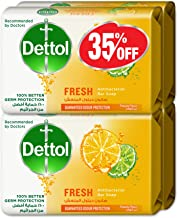 Dettol Fresh Anti-Bacterial Bar Soap 165g Pack Of 4 at 35% Off - Citrus & Orange Blossom