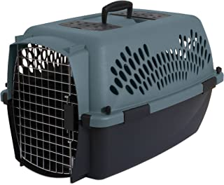 Aspen Pet Porter Heavy-Duty Pet Carrier,Storm Gray/Black,15-20 LBS