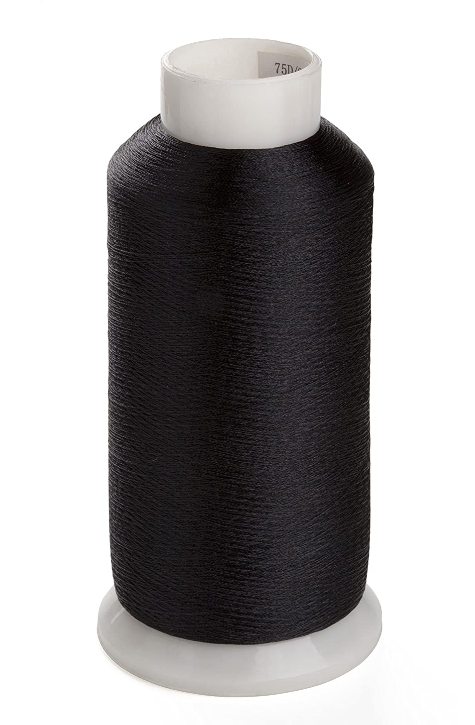 Sinbel Polyester Embroidery Under Thread Black Color Bottom Thread 5000 Meters Per Spool For Brother Babylock Janome Singer Pfaff Husqvaran Bernina Machines (black)