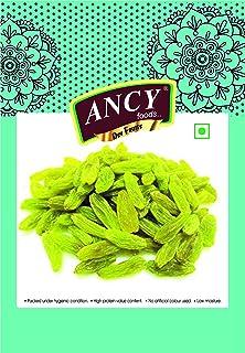 Ancy Indian Green Raisins (kishmish) Long Size and Sweet (250 Grmas)