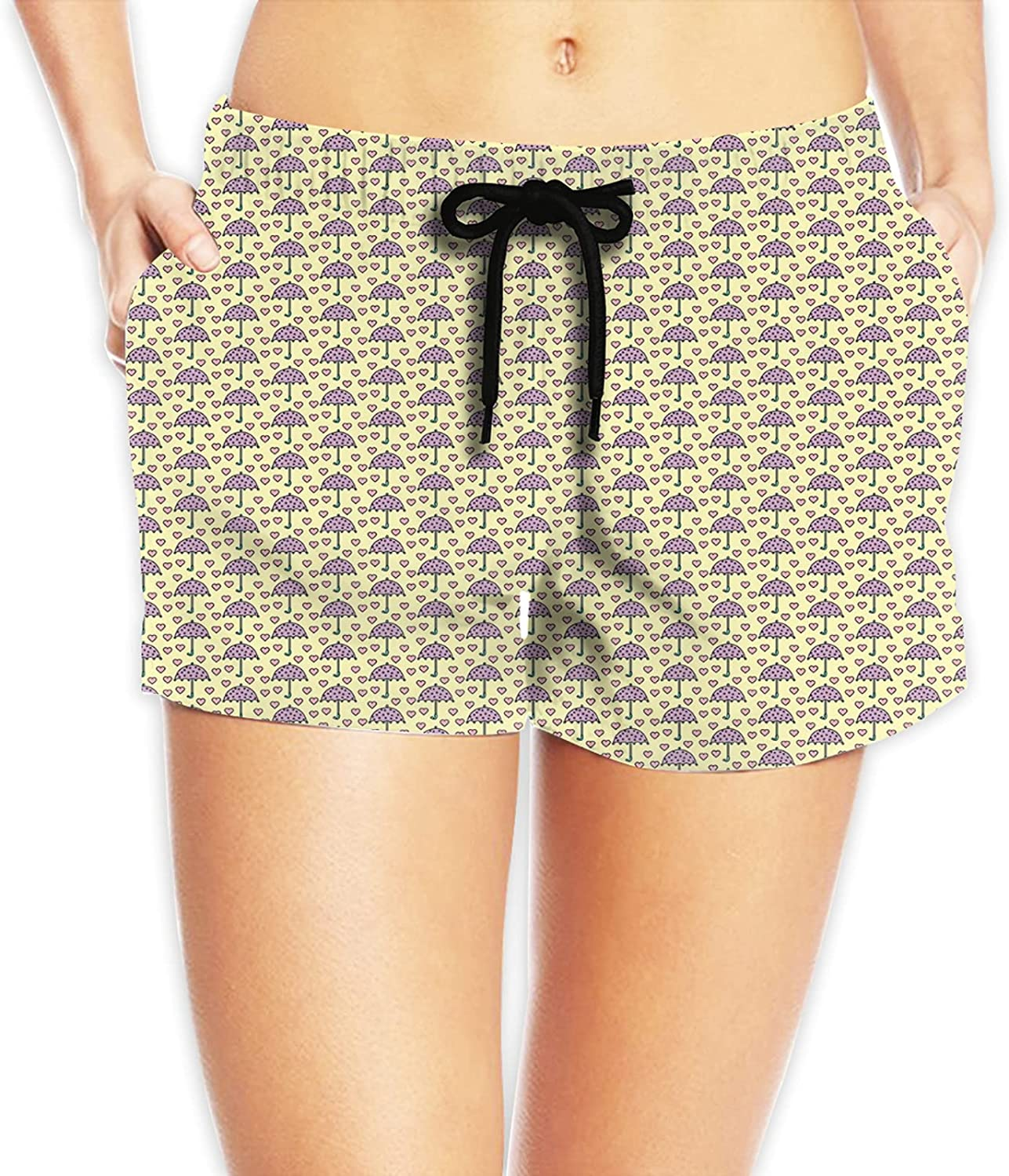 Padoni Women Summer Beach Boardshorts Be super welcome famous Swim with S Trunks Pockets