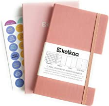 Kelkaa Planner 2020 Daily Weekly Monthly Agenda to Achieve Goals & Happiness, Vision Board/Mind Map – Gratitude & Productivity Journal, FSC Certified Notebook, 1 Year Undated A5 Hardcover (Blush Pink)