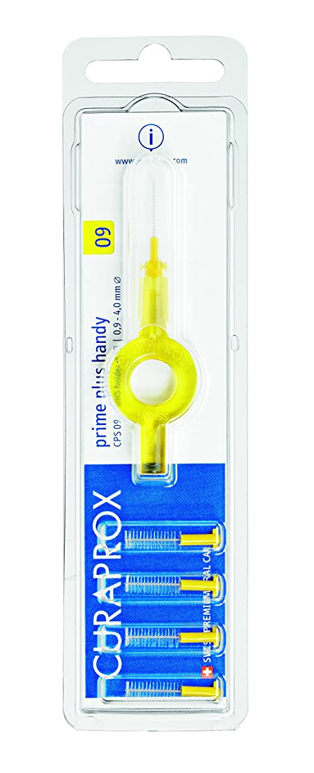 誠実さみ知るクラプロックス 歯間ブラシ プライムプラスハンディ09黄