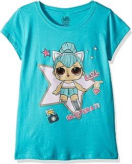 L.O.L. Surprise! Girls' Big Glitterati Kitty Queen Short Sleeve T-Shirt