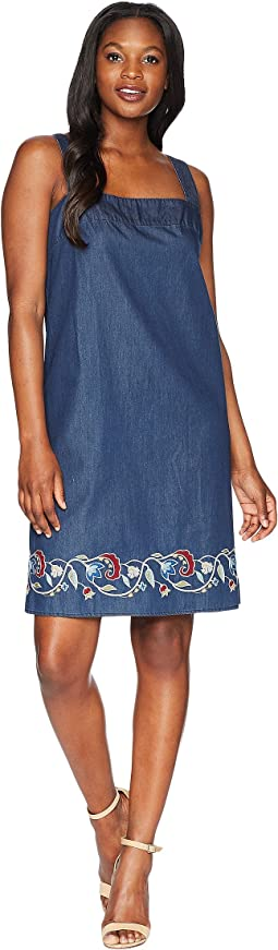 Tala Embroidered Cotton Apron Dress