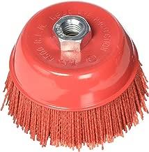 Al's Liner ALS-6CB 6 Inch Abrasive Nylon Bristle Cup Brush, 180 Grit