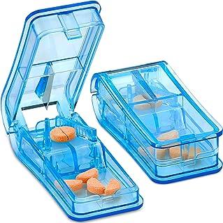 MEDca Pill Cutter - V- Grip Pill Crusher and Cutter for Vitamins, Big & Small Pills, and Medication - Transparent Pill Spl...
