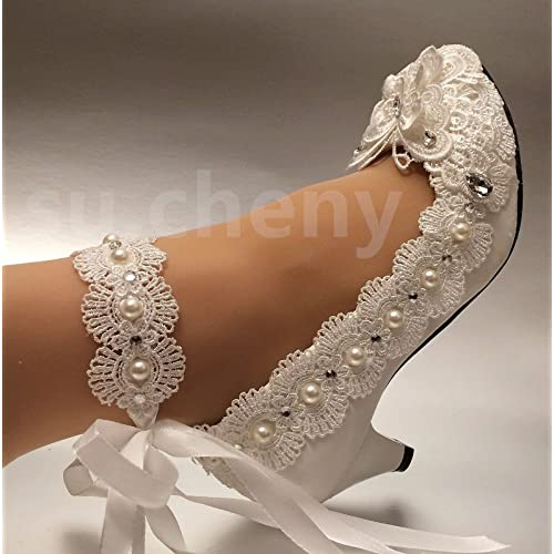 Silver Bling bridal wedding crystal low heel flat bridesmaid prom shoes size5-12
