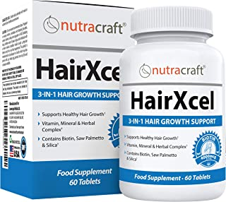 #1 Hair Loss Supplement & DHT Blocker - Natural 3-in-1 Remedy for Hair Recovery and Regrowth with Biotin fo...